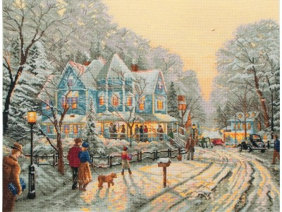 A Holiday Gathering - Thomas Kinkade