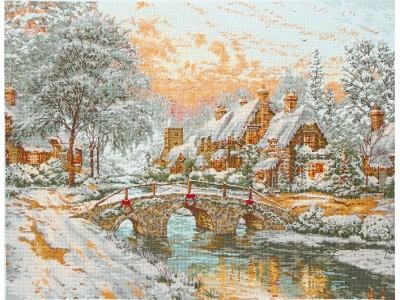 Cobblestone Christmas - Thomas Kinkade