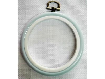 Рамка кръгла-синя