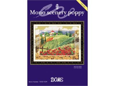 Mono scenery poppy