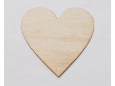 4004 Дървена фигурка за декорация - сърце 1 бр.