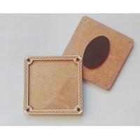 Дървена заготовка за магнит - квадрат - 80 х 80 мм
