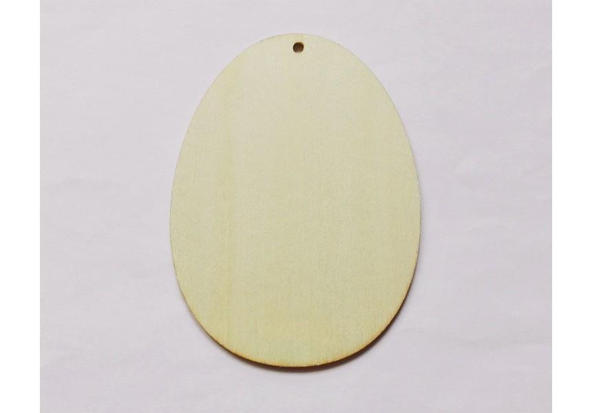 4040 Дървена фигурка за декорация - яйце - 120 х 90 мм 1 бр.