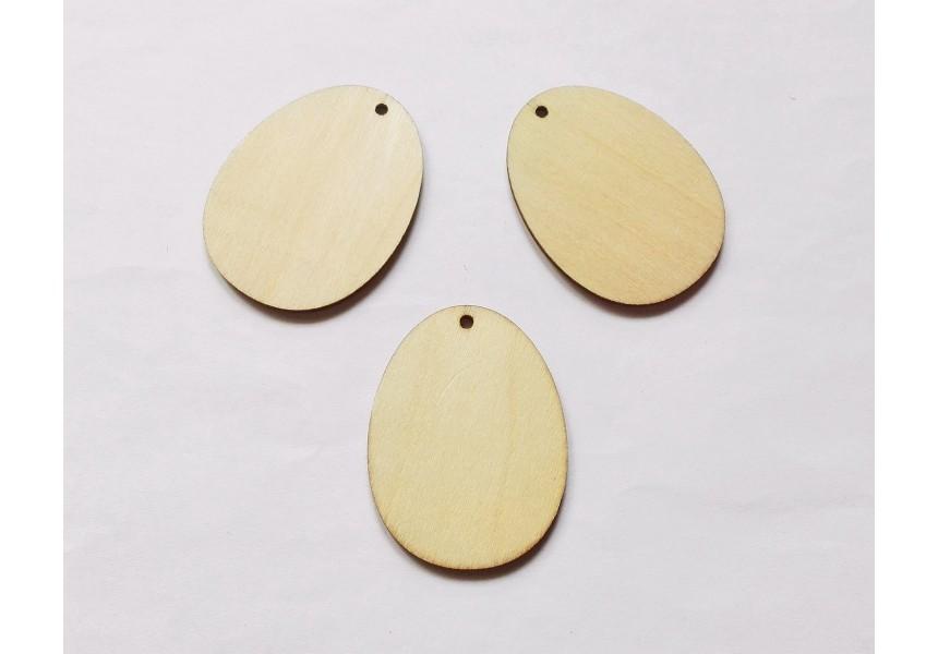 4041 Дървена фигурка за декорация - яйце - 60 х 45 мм 1 бр.
