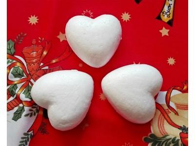 Сърца от стирофом - 7 см