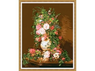 Букет розови рози
