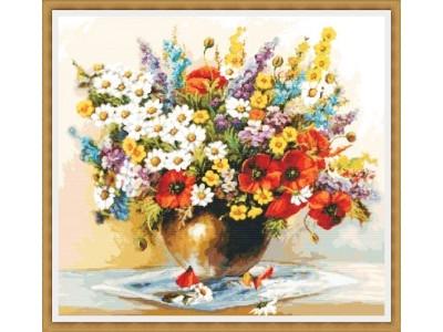 Букет пролетни цветя