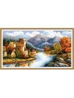 Замък край реката