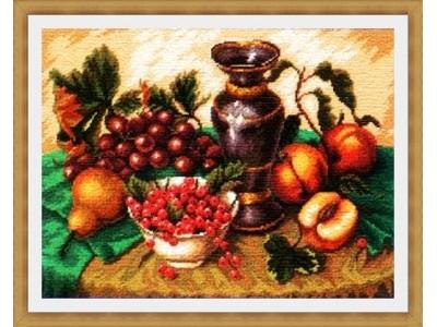 Натюрморт с грозде и ябълки