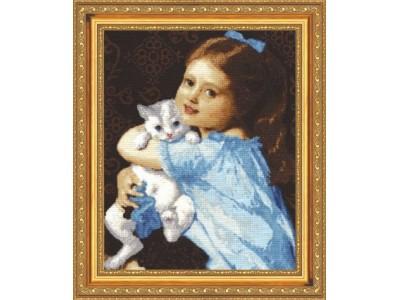 Момиче с коте