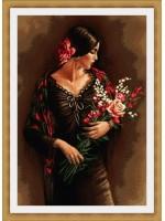 Испанка с букет цветя