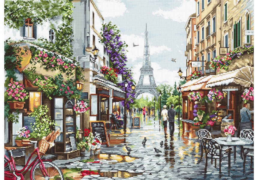 Париж в цветя