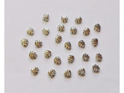 1031 Метални мъниста - листа - 10 бр.