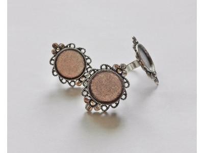 1207 Метална основа за пръстен 1 бр.