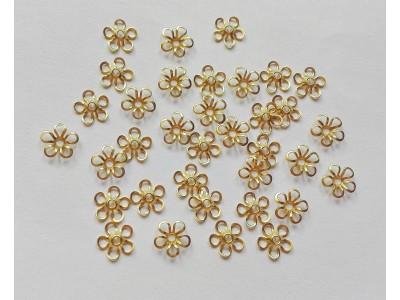 1293 Метални шапки цвете 10 бр.