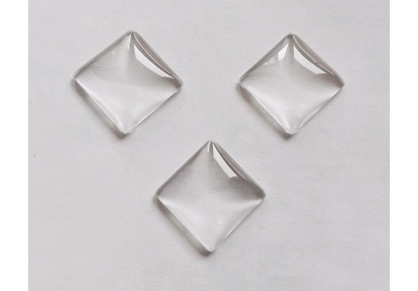 1301 Кабошон стъкло - квадрат - 25мм 1 бр.