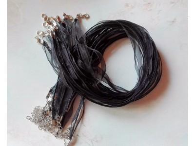 1308 Верижка органза - цвят черен 1 бр.