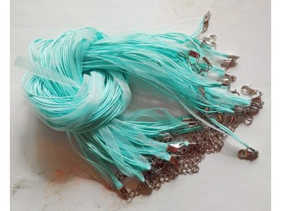 1311 Верижка органза - цвят електрик 1 бр.