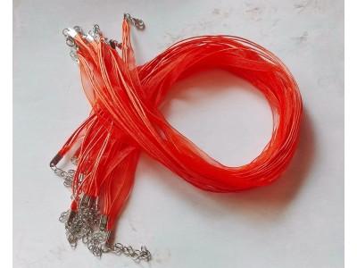 1314 Верижка органза - цвят оранжев 1 бр.