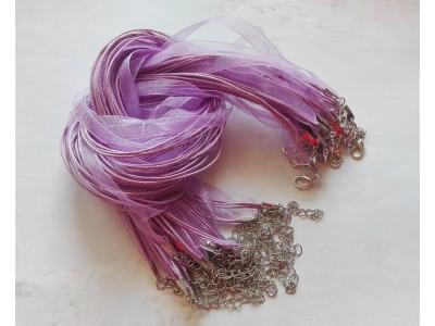 1318 Верижка органза - цвят лилав 1 бр.