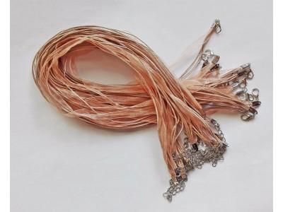 1378 Верижка органза - цвят бежов 1 бр.