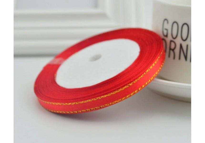 Сатенена лента за декорация - цвят червено