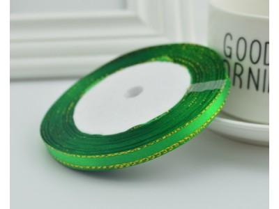 Сатенена лента за декорация - цвят зелено
