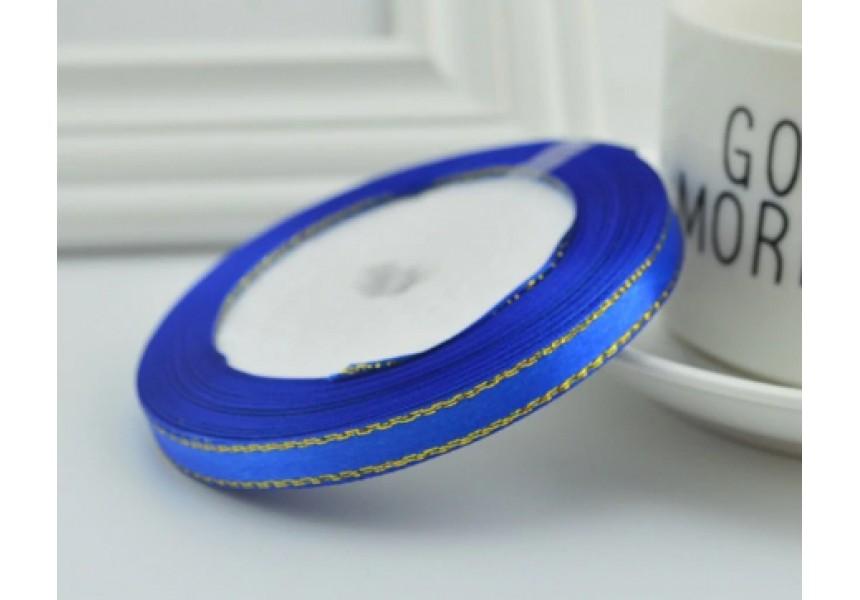 Сатенена лента за декорация - цвят кралско синьо