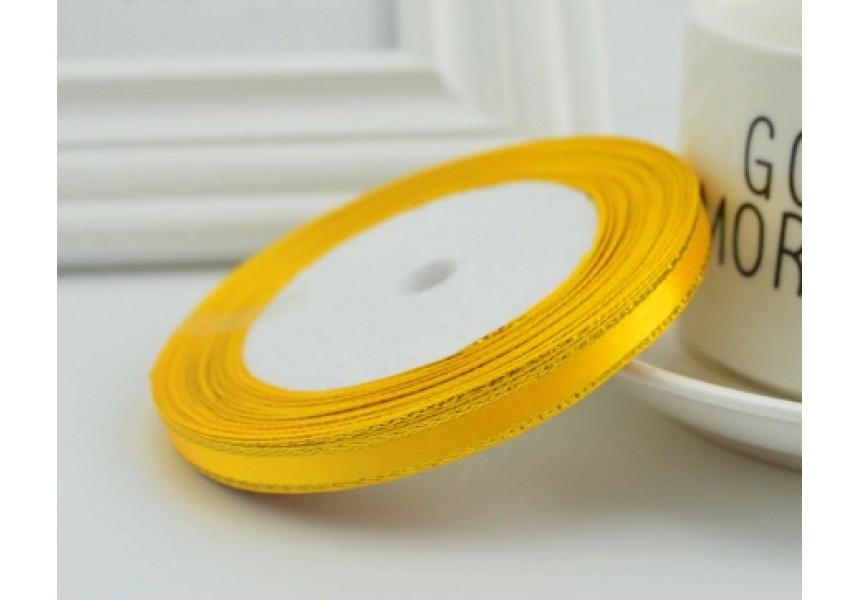 Сатенена лента за декорация - цвят жълто