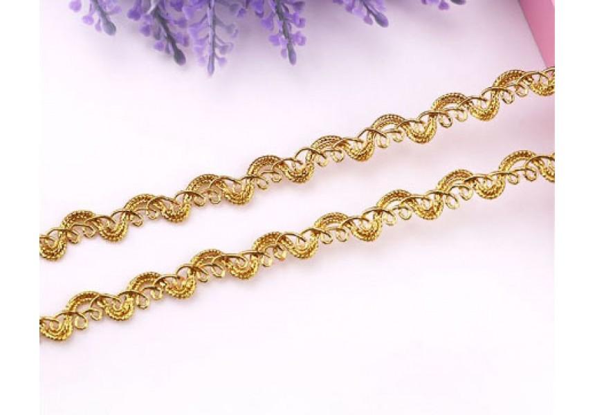 Декоративен ширит - цвят злато 5