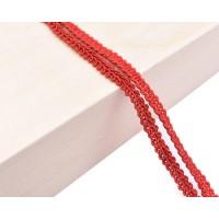 Декоративен ширит - цвят червено