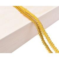 Декоративен ширит - цвят тъмно злато