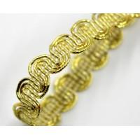 Декоративен ширит - цвят злато 2