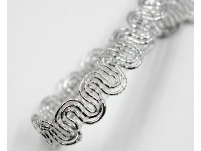 Декоративен ширит - цвят сребро 1
