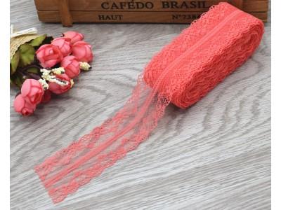 Декоративна дантела  - цвят корал