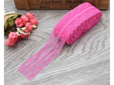 Декоративна дантела  - цвят розово