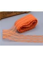 Декоративна дантела  - цвят оранжево