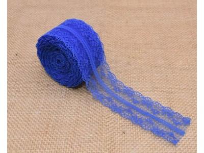 Декоративна дантела  - цвят кралско синьо