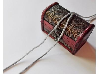 Декоративен шнур - цвят сребро