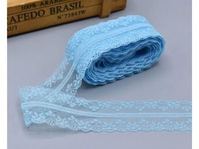 Декоративна дантела  - цвят светло синьо
