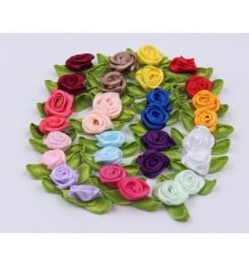 Сатенени рози за декорация