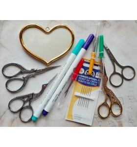 Лупи, игли, ножици, маркери, аксесоари